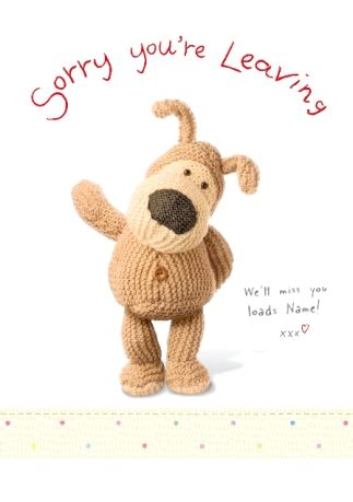 sorry you re leaving card template card boofle sorry you re leaving funky pigeon