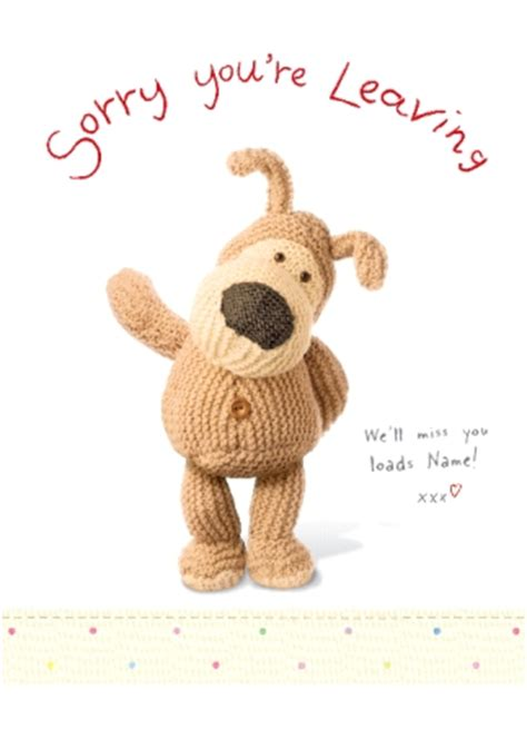sorry you re leaving card template boofle sorry you re leaving funky pigeon