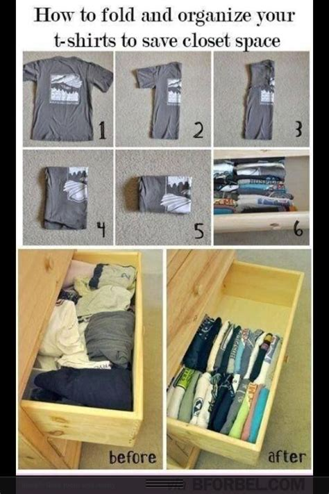 Folding T Shirts For Drawers by Easy Way To Fold Clothes Organization