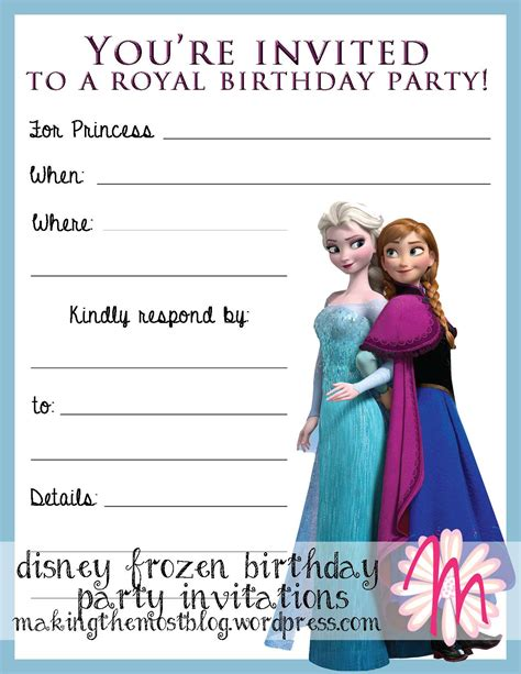 printable frozen birthday party invitations frozen birthday invitations printable theruntime com