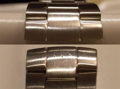 Kratzer Aus Uhr Polieren kratzer aus geb 252 rstetem edelstahl entfernen unm 246 glich