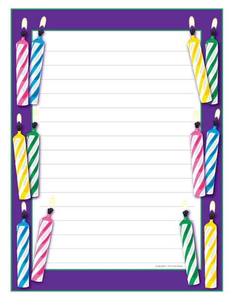 birthday writing paper birthday writing paper educational finds and teaching