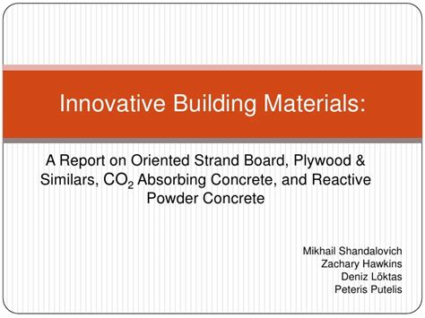 innovative building materials metropolia student project seminar 24 5 innovative