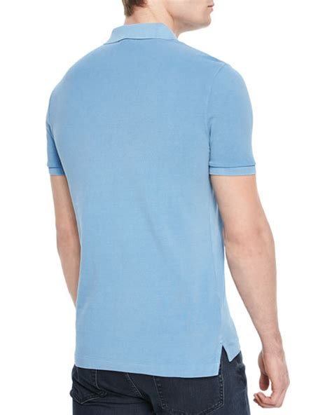 light blue sleeve polo burberry brit cassius sleeve polo shirt light blue