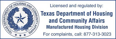 texas department of housing and community affairs announcement manufactured housing logo