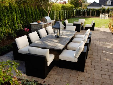 Patio Furniture Layout Patio Design Size And Shape Hgtv