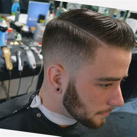 hard part haircut popular for men side part low fade to hard part or not to hard part is