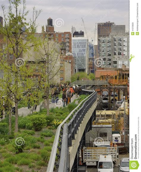 Chelsea Section Of Manhattan by High Line Chelsea New York City Editorial Stock Photo