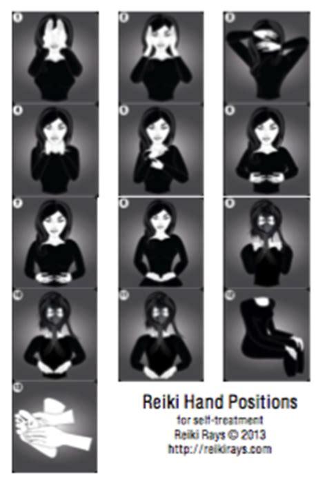 reiki hand positions  downloadable  chart reiki rays