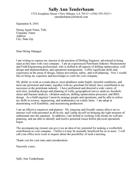 engineering internship cover letter exles engineering the cover letter