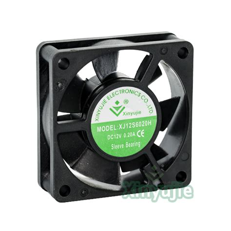 high output computer fan 60 60 20mm laptop cooling fan 60mm high output 12v