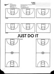 Basketball Playbook Template by Basketball Court Diagram Hoop Infusion