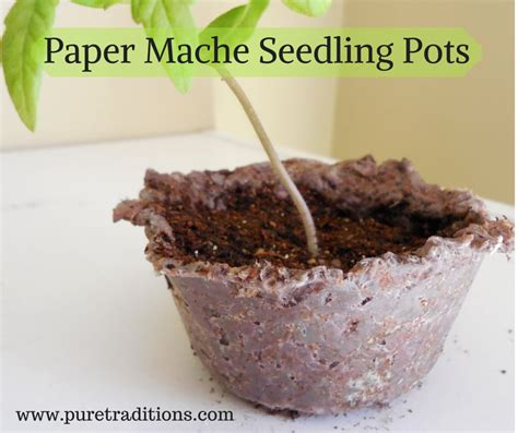 How To Make Paper Mache Pots - paper mache seedling pots
