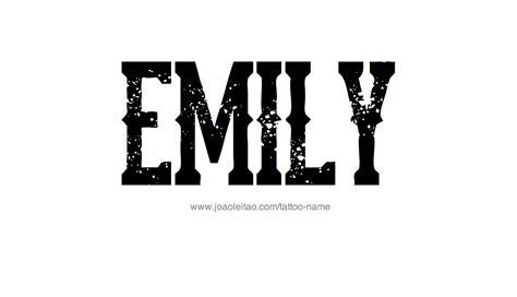 emily tattoo designs emily name designs