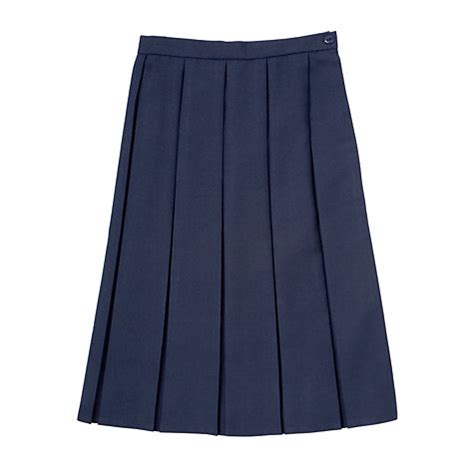 buy school box pleat skirt navy lewis