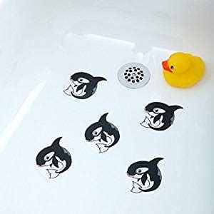 bathtub stickers non skid amazon com bathtub stickers orca whale safety decals
