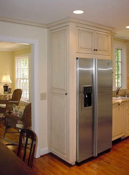 Kitchen Cabinets Over Refrigerator   painted & glazed