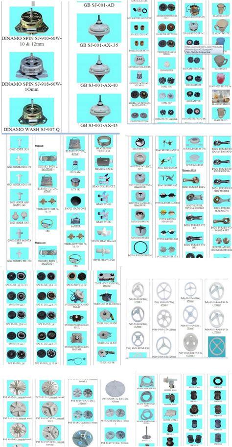 Elektronik Blender komponen mesin cuci blender mixer kompor lemari es