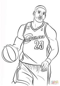 Lebron Coloring Pages lebron coloring page free printable coloring pages
