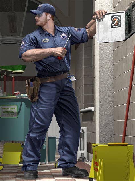 sam the janitor 2 by lundqvist on deviantart