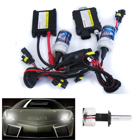 Lu Hid H1 55 Watt 35 55w hid xenon conversion kit headlights slim ballast h1