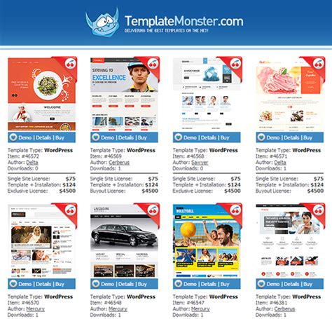 wordpress templates template monster http webdesign14 com