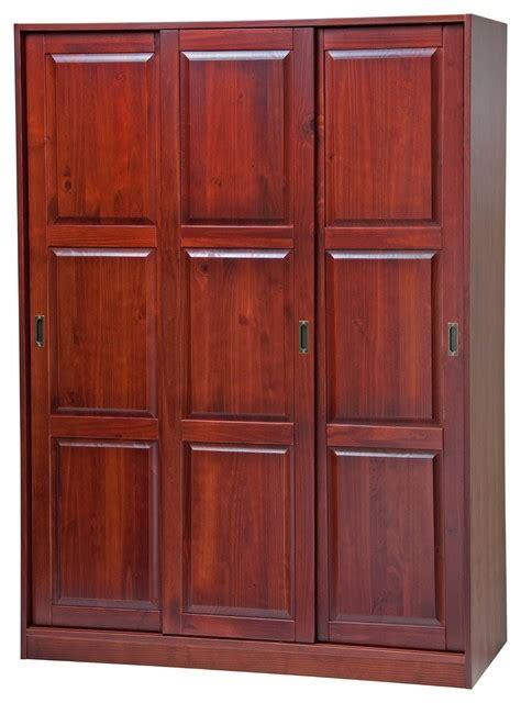 mahogany armoires wardrobes 100 solid wood 3 sliding door wardrobe armoire closet