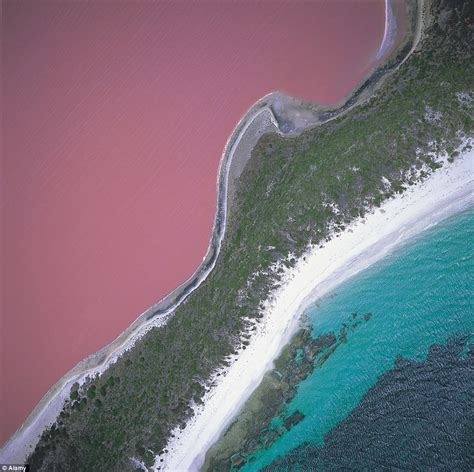 pink lake australia seven unknown wonders of australia include a pink lake