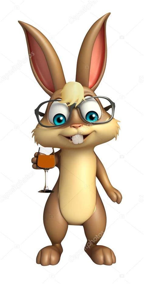 imagenes de lentes kawaii lindo personaje de dibujos animados de conejo con gafas de
