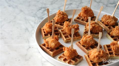 southern comfort appetizers mini chicken and waffles recipes purewow