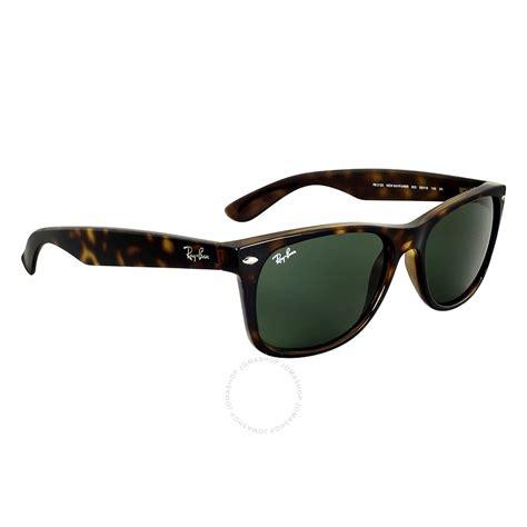 ban new wayfarer tortoise green 52mm sunglasses rb2132