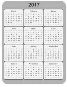 Calendario Completo 2017 Clipart Calendario 2017 B N