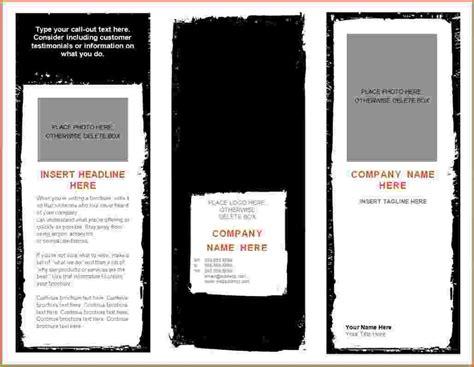 microsoft word brochure template product brochure template word