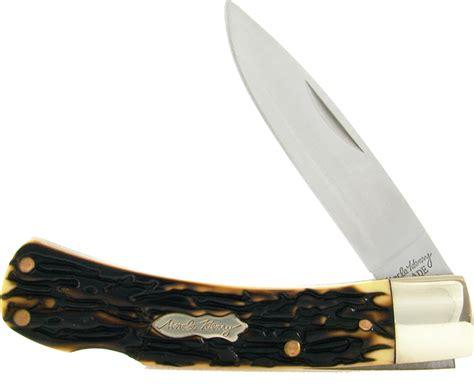 henry pocket knife schrade henry bruin lockback folding pocket knife