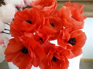 Make Paper Poppies - paper flowers colleen s creations
