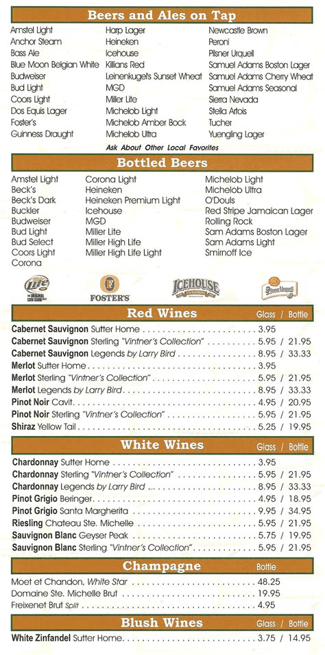 miller ale house menu image gallery orlando ale house menu
