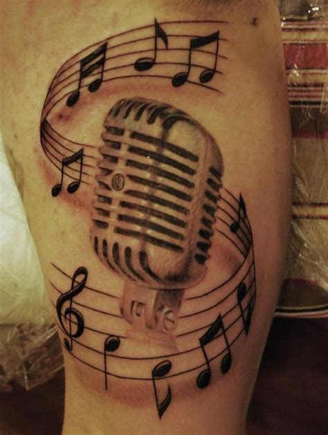 music mic tattoo designs george g whiz winterling baltimore artists