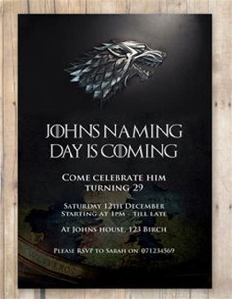 of thrones birthday card template of thrones gaming birthdays and 30th