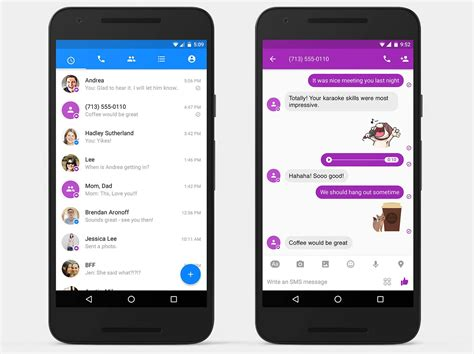 to messenger για android τώρα υποστηρίζει την αποστολή λήψη sms phonegr tech