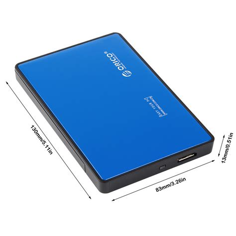 Orico 2 5 Inch External Hdd Enclosure Usb 3 0 To Sata 3 Murah orico 1 bay 2 5 inch external hdd enclosure sata 2 usb 3 0 2588us3 v1 blue jakartanotebook