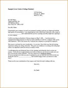 College Student Cover Letter Template by Cover Letter Exles For College Students Templatezet