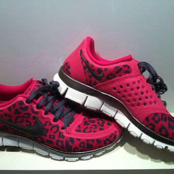 grey cheetah nike running shoes womens nike pink leopard free run 5 0 v4 from