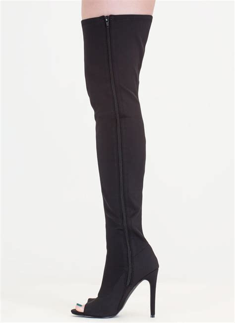 peep toe thigh boots smooth peep toe thigh high boots taupe wine grey