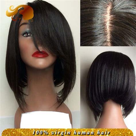 human hair inverted bob wigs brazilian bob cut wigs glueless full lace wigs virgin hair