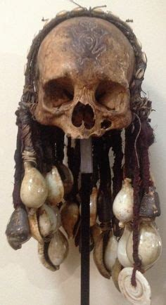 Keep Skulls Alive by Tribal Human Skull Overmodeled Trophy