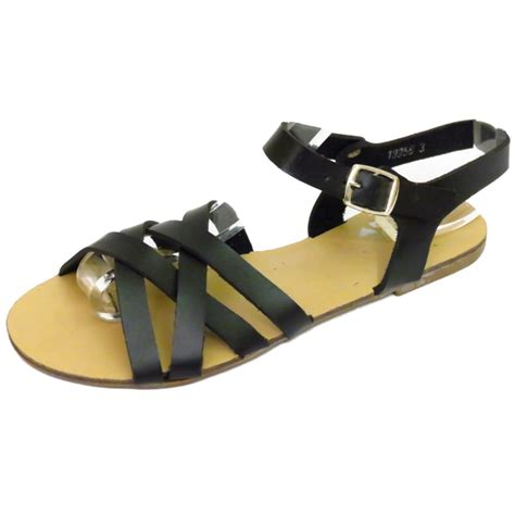 black flat strappy shoes black flat strappy gladiator summer sandals flip