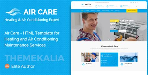 Air Care Html Template For Heating And Air Conditioning Maintenance Services Theme For U Heating And Air Conditioning Website Templates