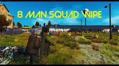 pubg 8 man squad gigantic 8 man solo squad wipe dayz tv