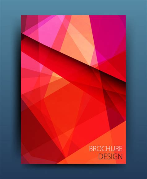 design magazine vector magazine or brochure colored abstract cover vector free