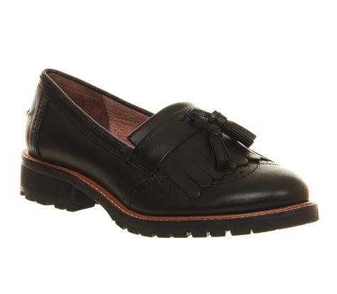 Maharani Loafer Flats Dir Co office viva tassle cleated loafer black leather flats